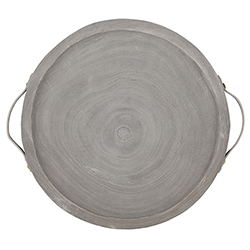 Paulownia + leather Tray - Grey