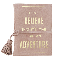 Suede Leather Notebook - Believe