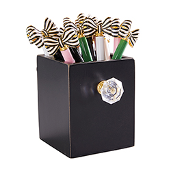 Striped Bow Pen Filled Display