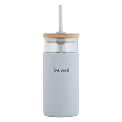 18oz Glass Tumbler - Live Well