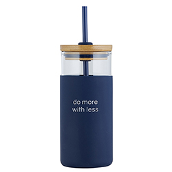 18oz Glass Tumbler - Do More With Less