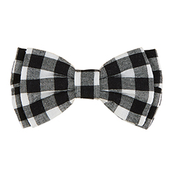 Pet Bow Ties - Black Buffalo Check