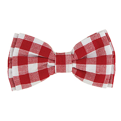Pet Bow Ties - Red Buffalo Check