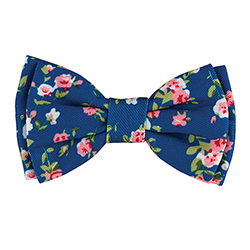 Pet Bow Ties - Blue Floral