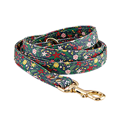 Saffiano Leash - Floral