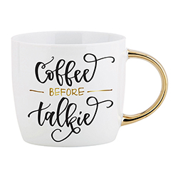 Gold Handle Mug - Coffee Before Talkie
