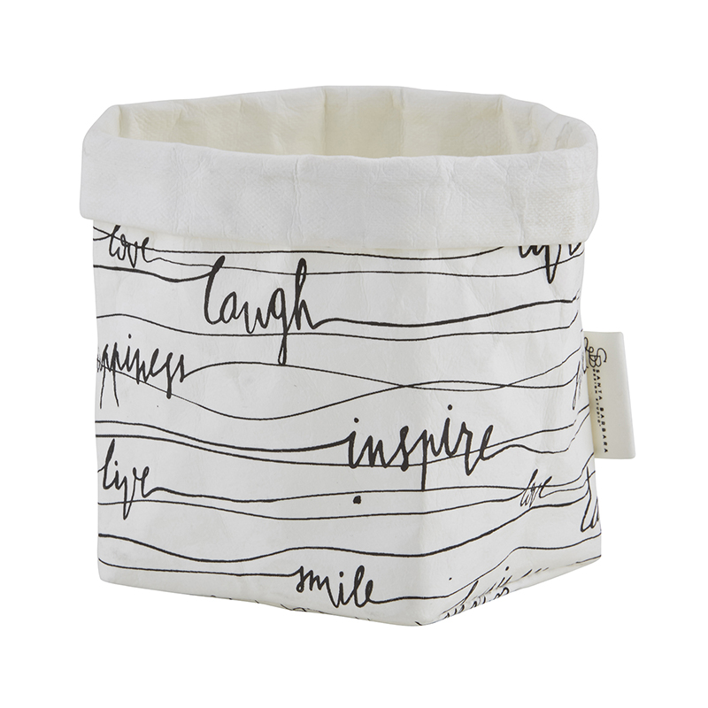 Washable Paper Holder - Small - Words