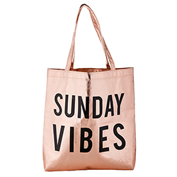 Rose Gold Tote - Sunday Vibes