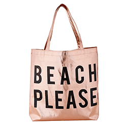 Rose Gold Tote - Beach Please