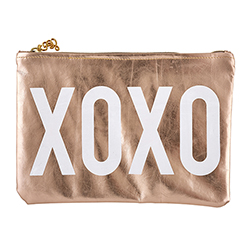 Rose Gold Pouch - XOXO