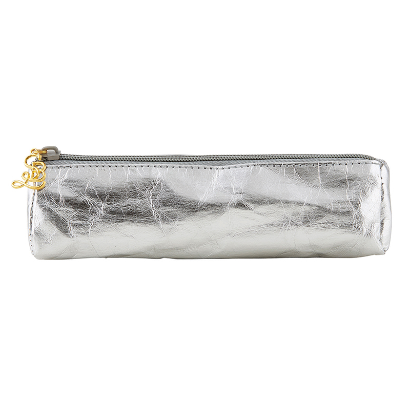 Glasses/Pen Case - Metallic Silver