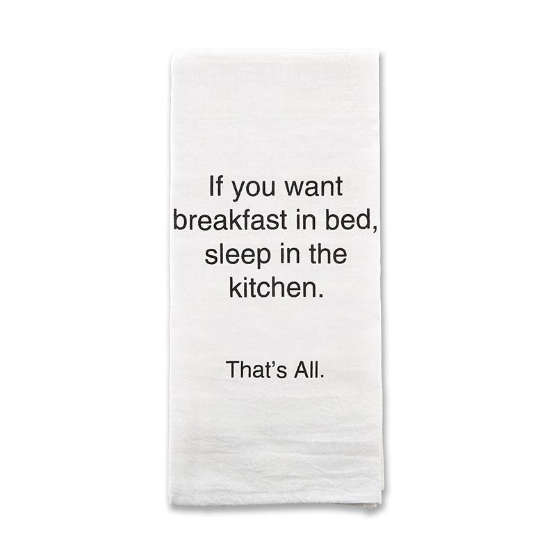 That's All Tea Towel - Breakfast In Bed