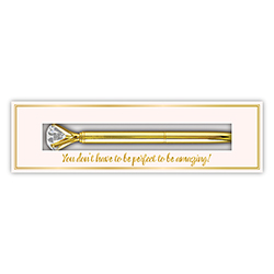 Boxed Gem Pen - Gold