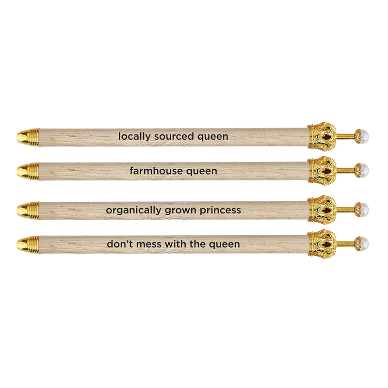 Crown Pens - Natural Wood