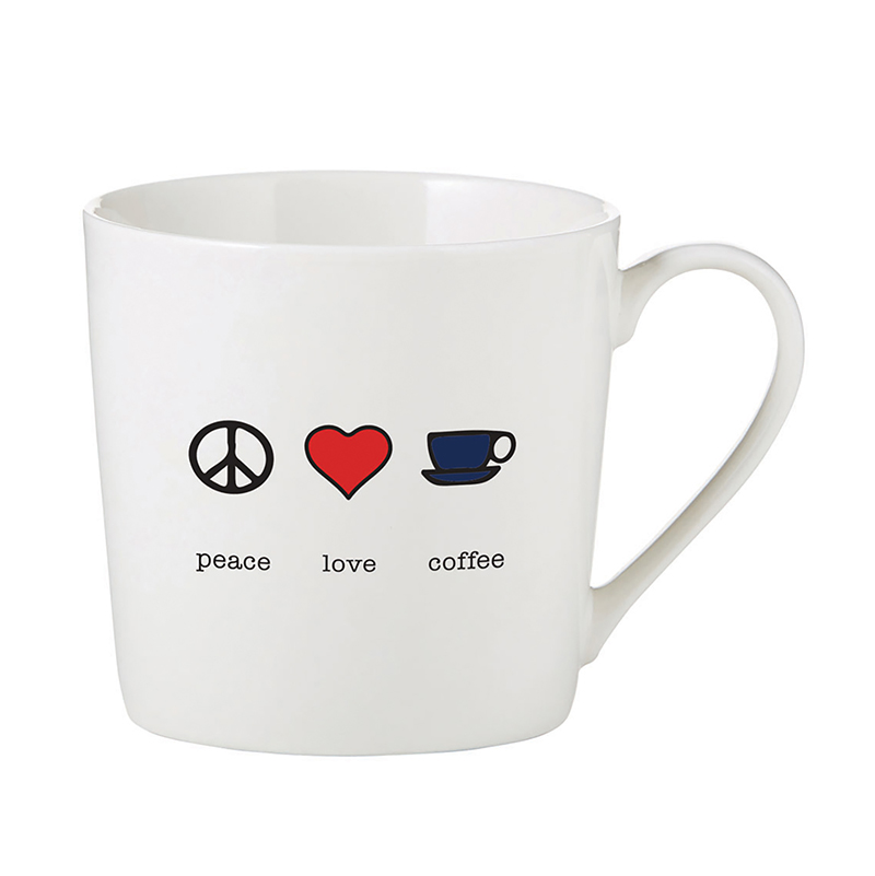 Café Mug - Peace Love Coffee