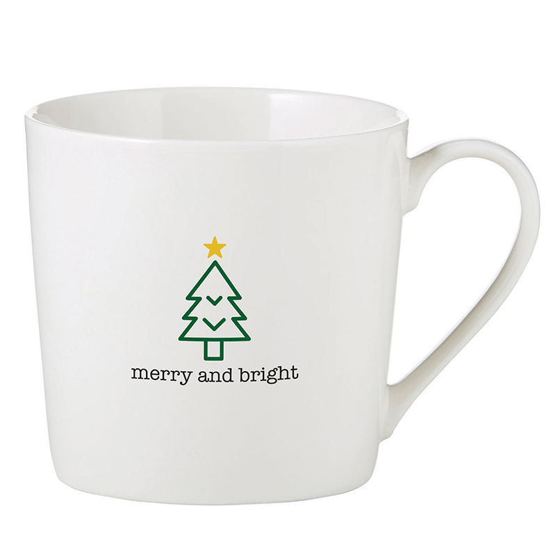 Café Mug - Merry and Bright
