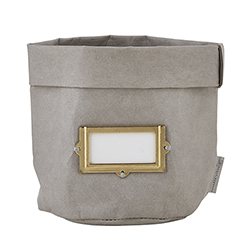 Washable Paper Holder - Medium - Grey with Label