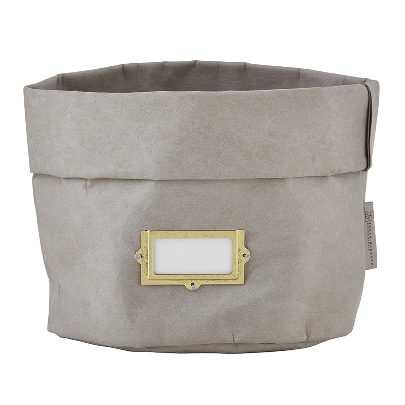 Washable Paper Holder - Large - Grey with Label