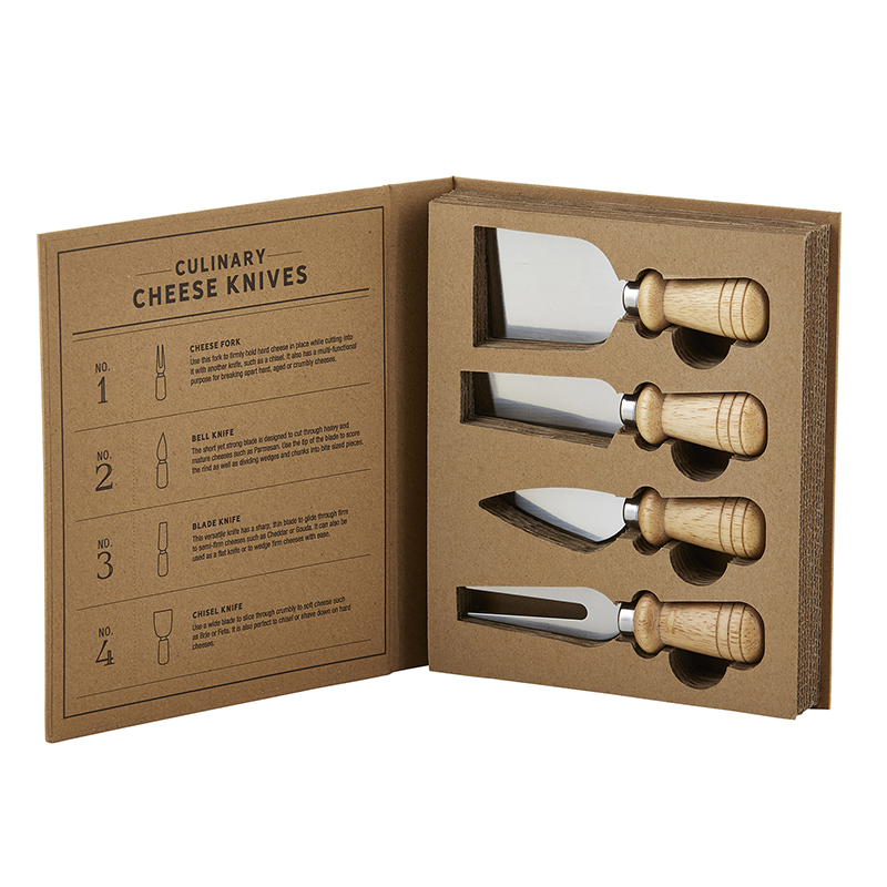 Cardboard Book Set - Cheese Knives