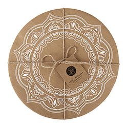 Cardboard Serving Trays - Mandala
