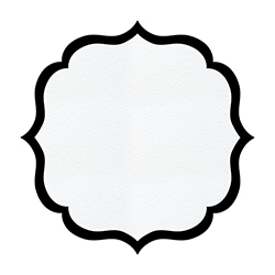 Cardboard Serving Tray - Arabesque