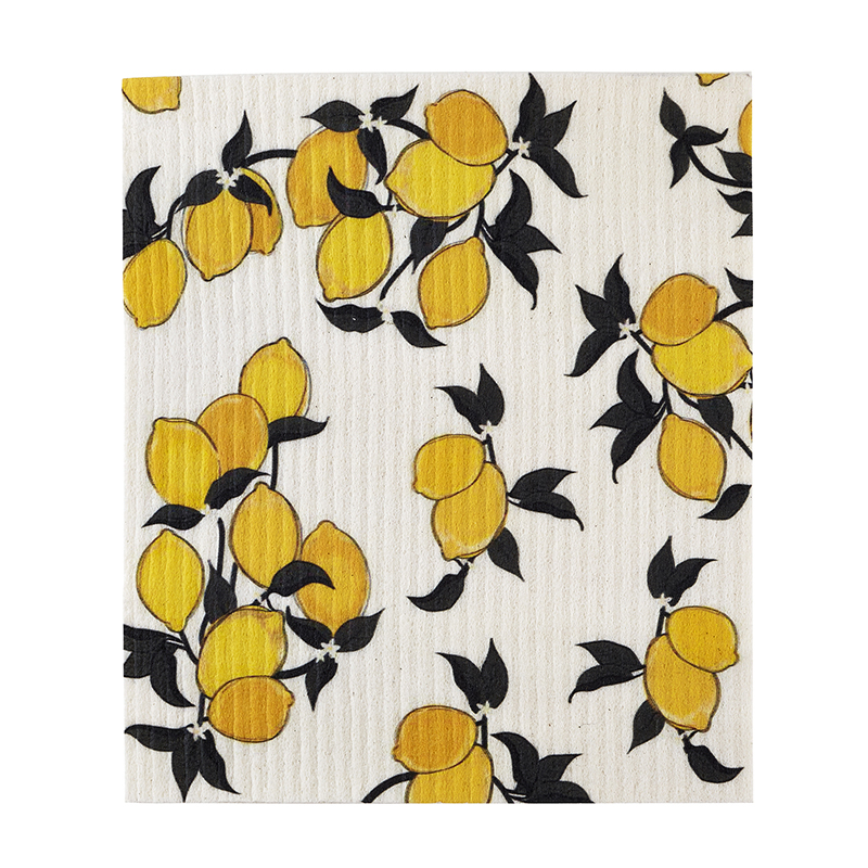 Organic Dishcloth - Lemons