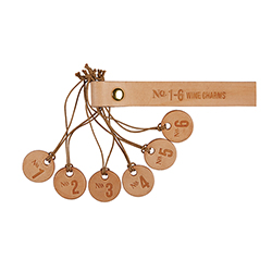 Leather Wine Charms - Numbers Set