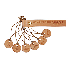 Leather Wine Charms - Sip Me Baby Set