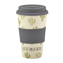 Bamboo Fiber Cup - Go Sit on a Cactus