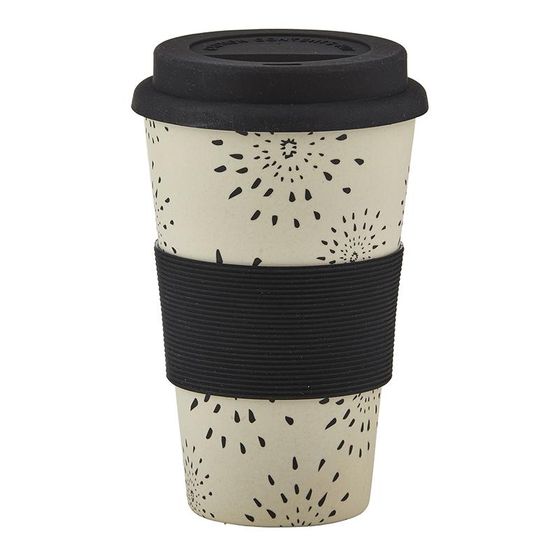 Bamboo Fiber Cup - Burst Pattern