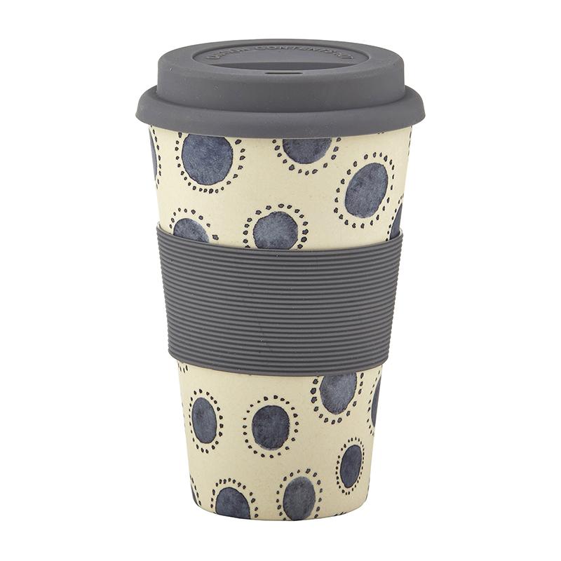Bamboo Fiber Cup - Indigo Dots