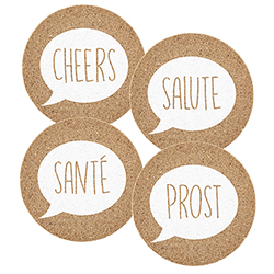 Cork Coasters - Cheers Assortment