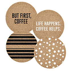 Cork Coasters - Coffee Assortment