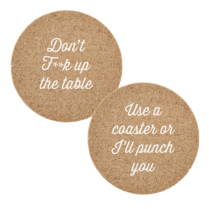 Cork Coasters - Table Manners Assortment
