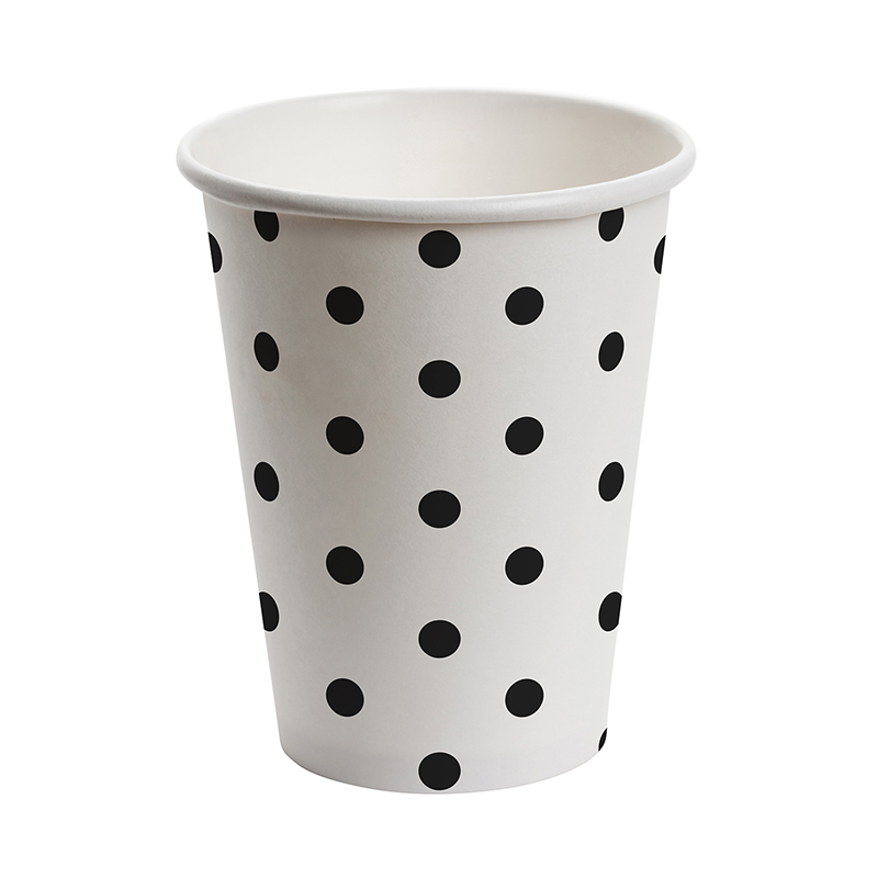 Paper Cup Set - White - Polka Dot
