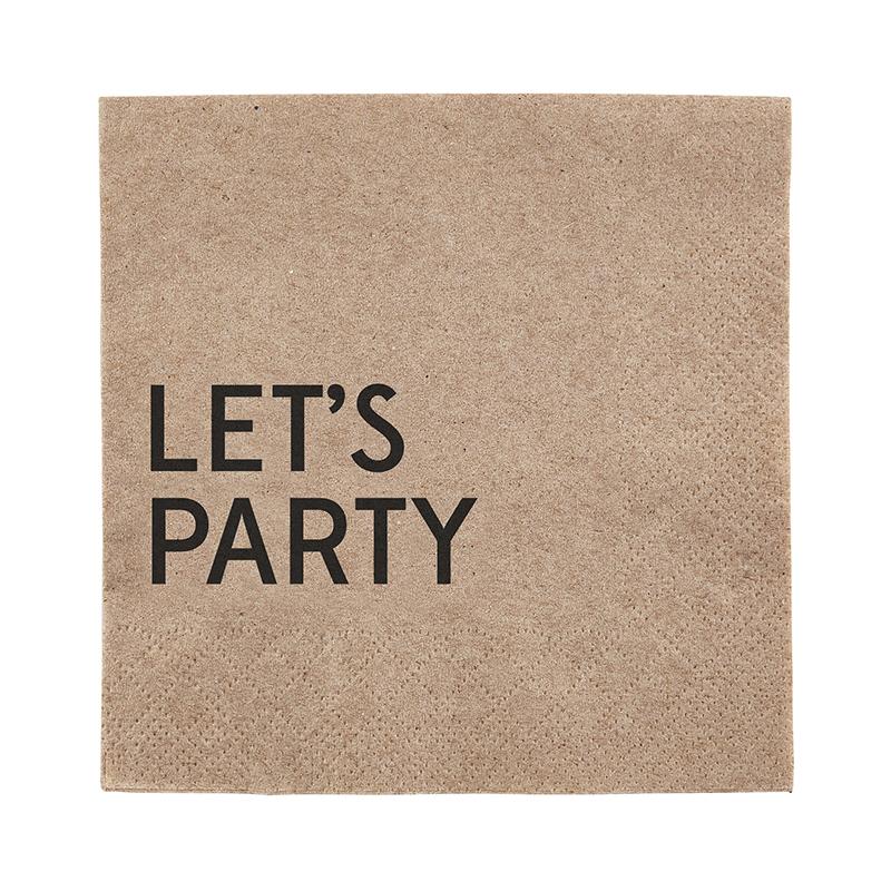 Beverage Napkin - Let's Party