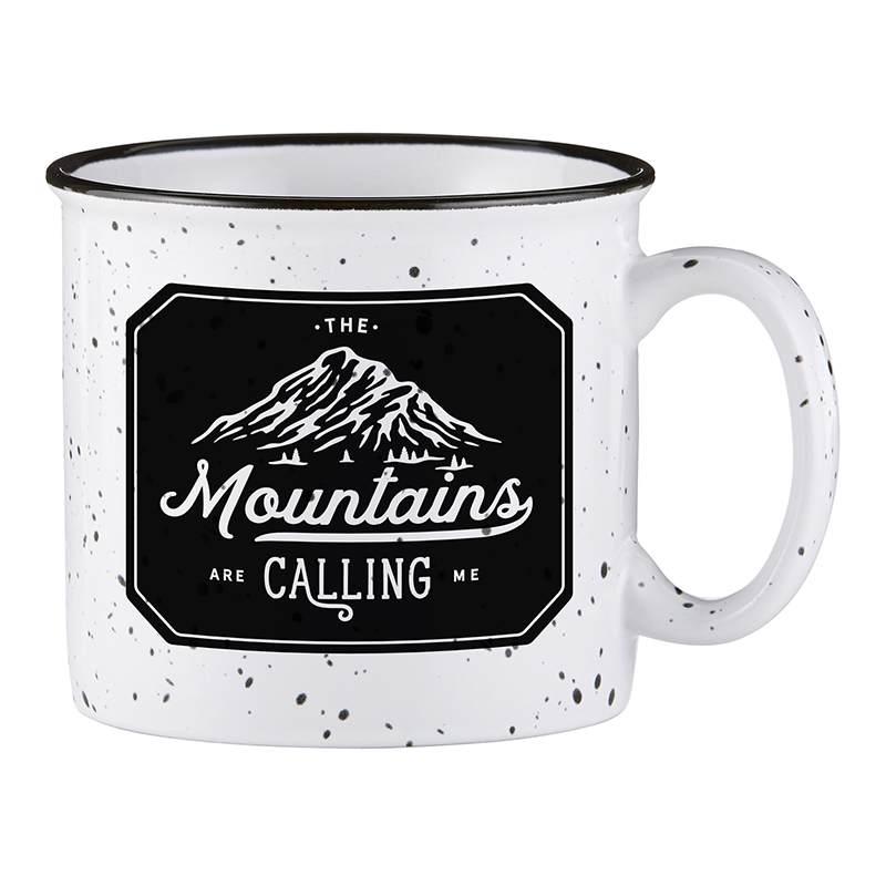 Campfire Mug - White - Mountains are Calling