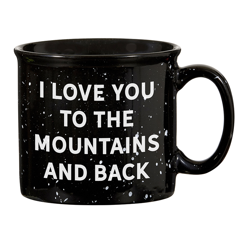 Campfire Mug - Black - I Love You