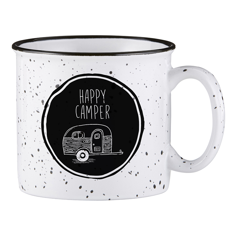 Campfire Mug - White - Happy Camper