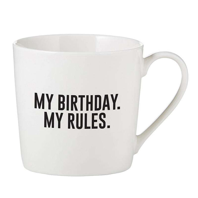 Café Mug - My Birthday. My Rules.