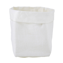 Washable Paper Holder - Small - White Linen