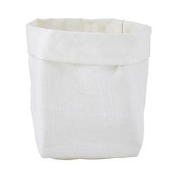 Washable Paper Holder - Small - White Linen