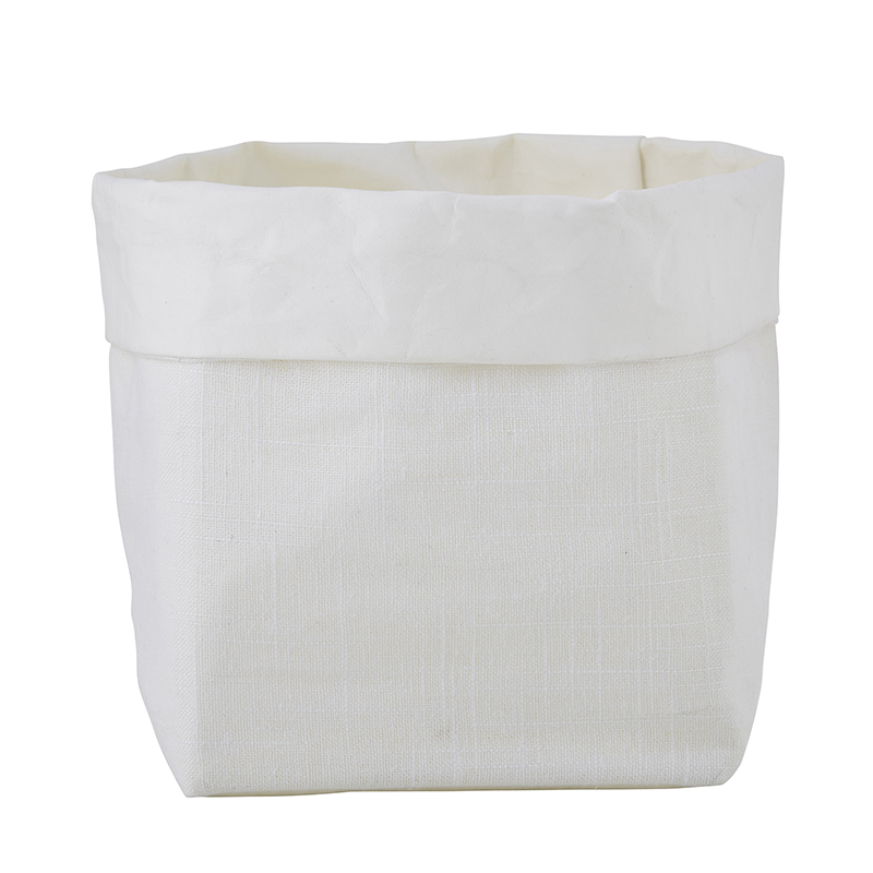 Washable Paper Holder - Medium - White Linen