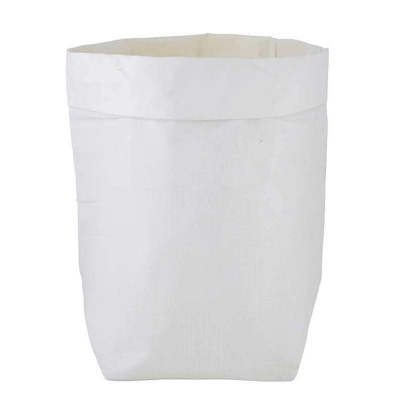 Washable Paper Holder - Large - White Linen