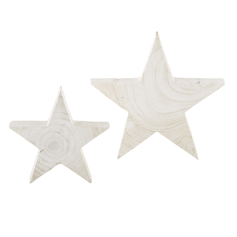 Paulownia White Star - Set of 2