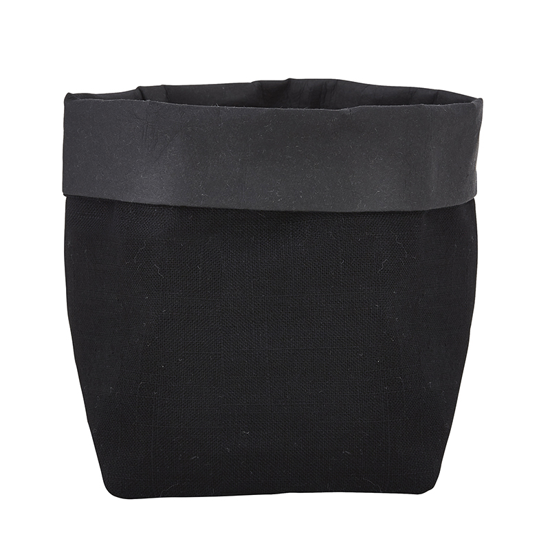 Washable Paper Holder - Small - Black Linen
