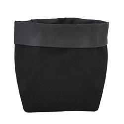 Washable Paper Holder - Small - Black Linen