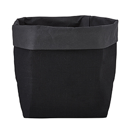 Washable Paper Holder - Medium - Black Linen