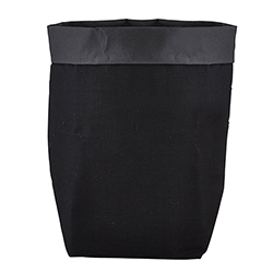 Washable Paper Holder - Large - Black Linen