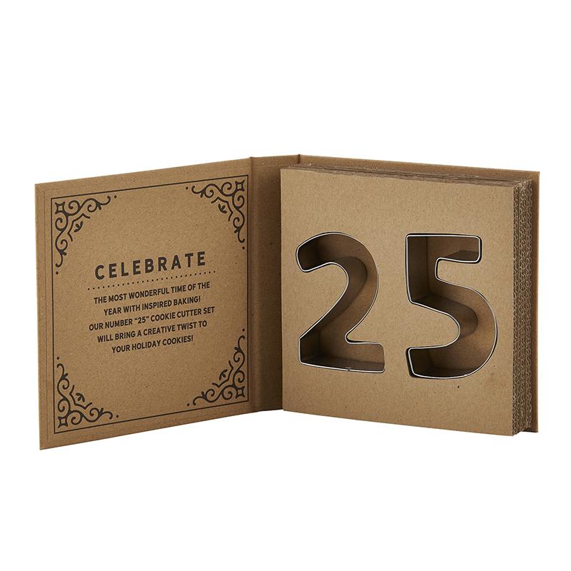 Cardboard Book Set - DEC 25 Cookie Cutters